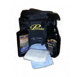 Kit Gant de décontamination bleu (grain fin)