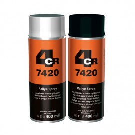 4CR Rallye spray noir brillant 400ml