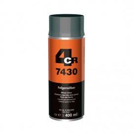 4CR Peinture jantes spray argent métallisé 400ml
