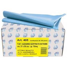 Chiffon dégraissant gaufré 37x50cm - bleu clair - 70g/m2 100 pièces