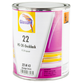 22-M 43 Peinture 2K HS Glasurit® Ligne 22 orange jaune 1L