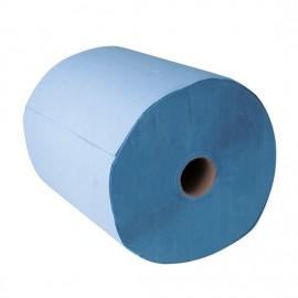 Chiffon de nettoyage bleu 2 plis 37 x 38 cm